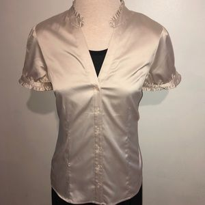 The Limited Short Sleeve Stretch Satin Shirt